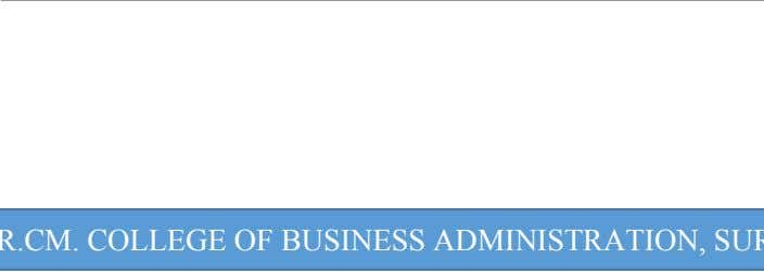 B.R.CM. B.R.CM. COLLEGE COLLEGE OF OF BUSINESS BUSINESS ADMINISTRATION, ADMINISTRATION, SURAT SURAT