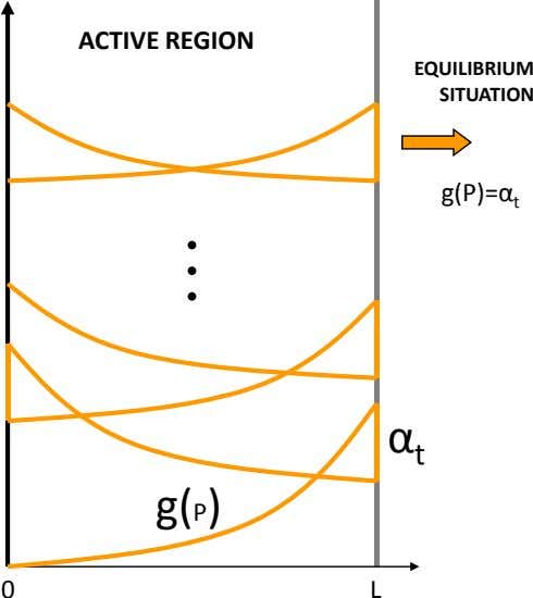 ACTIVE REGION EQUILIBRIUM SITUATION g(P)=α t α t g( P) 0 L