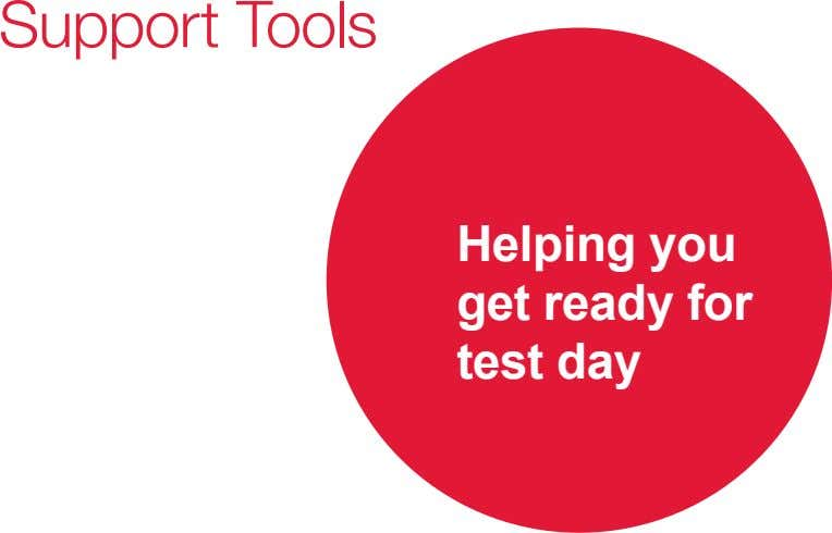 Helping you get ready for test day