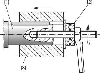 you do not need the thrust bearing on the mounting device. 05820AXX Fig. 5: Example of