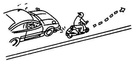 signal before driving and confirm safety of rear to move Adjusting speed controlled by throttle.