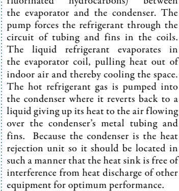 such a manner that the heat sink is free of interference from heat discharge of other