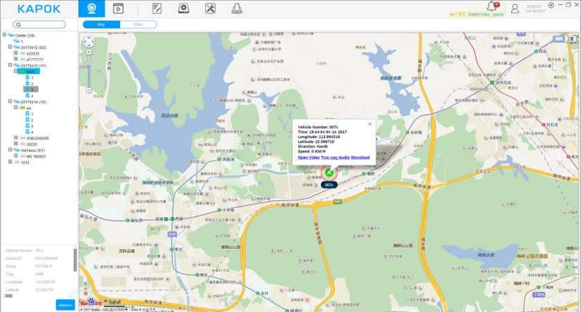 Note: double-click can enlarge the map. 4.4.6. Real-time alarm When an alarm happens it would