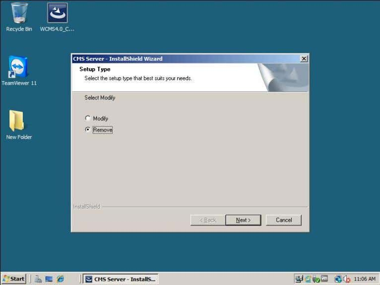 """Remove"" under the folder, in the following dialog box, select the remove to uninstall; select modify"