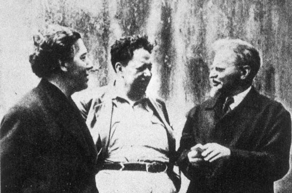 Memoirs of Surrealism Andre´ Breton, Diego Rivera, and Leon Trotsky, Mexico, 1928; photo: Fritz Bach. Something