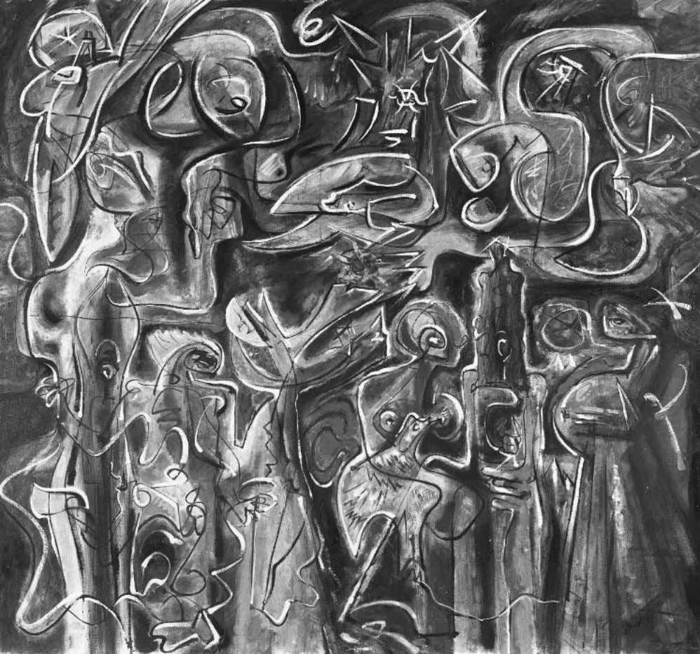 Memoirs of Surrealism Andre´ Masson, La Nuit fertile (The Fertile Night), 1960; photo: Lauros-Giraudon, private