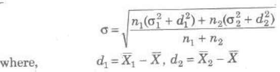then the standard deviation of the combined series is Effects of Average and Dispersion on Change