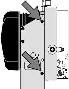 Do not defomr the pressure switch and link when fitting. Poser la visserie de part et