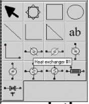 One-sided heat exchanger 7. Left click on this icon. The palettes will disappear and the
