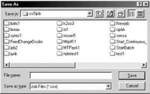 bar. Now choose the N ew Job option by clicking on it. The following dialog box