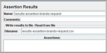 the complete file names as defined in the jmeter script: The assertions_sample setting determines how many