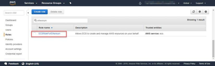 an IAM Role for Amazon ECS and an EC2 Instance Profile 10. Copy the Role ARN