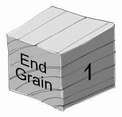 3. Use the dial caliper to accurately measure and record the end grain side length of