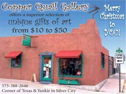 Copper Quail Galleryy Merry offers a superior selection of Christmas unique gifts of art to