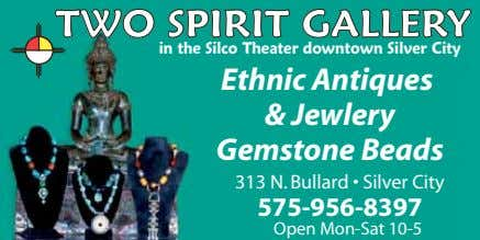 TWO SPIRIT GALLERY in the Silco Theater downtown Silver City Ethnic Antiques & Jewlery Gemstone