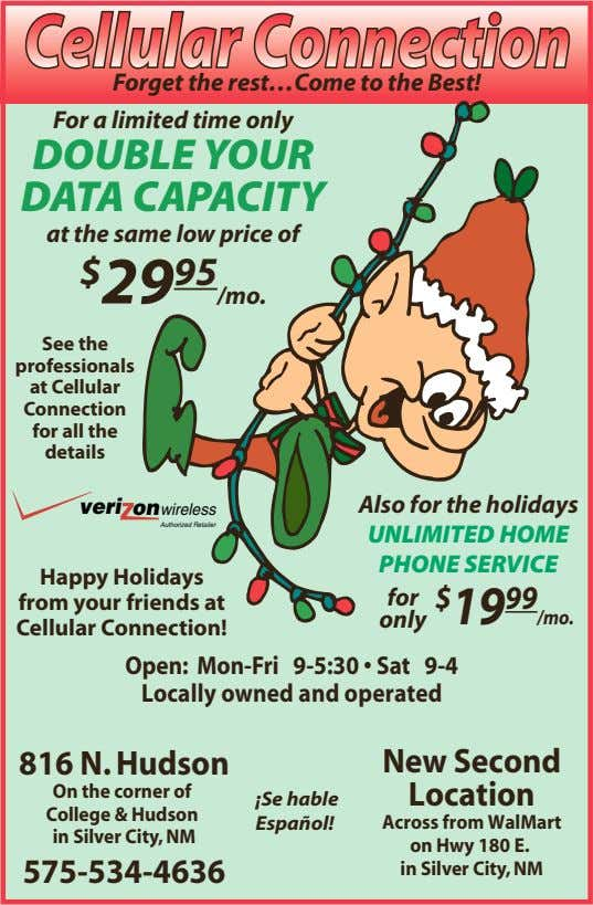 Forget the rest…Come to the Best! For a limited time only DOUBLE YOUR DATA CAPACITY