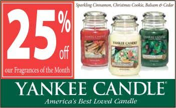 Sparkling Cinnamon, Christmas Cookie, Balsam & Cedar o our Fragrances of the Month