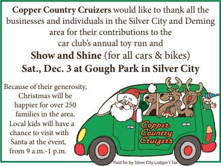 Copper Country Cruizers would like to thank all the businesses and individuals in the Silver