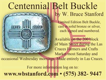 Centennial Belt Buckle by W. Bruce Stanford Limited Edition Belt Buckle, cast in solid bronze