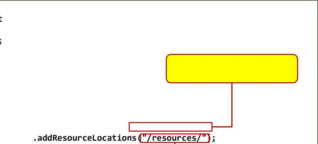 ".addResourceLocations(""/resources/"");"