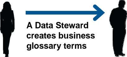 A Data Steward creates business glossary terms
