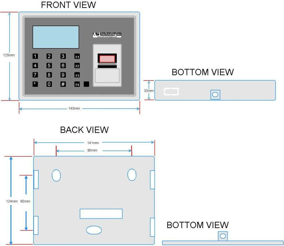 Dimension Measurement Installer can use back plate dimensions to cut out mounting hole for mounting of