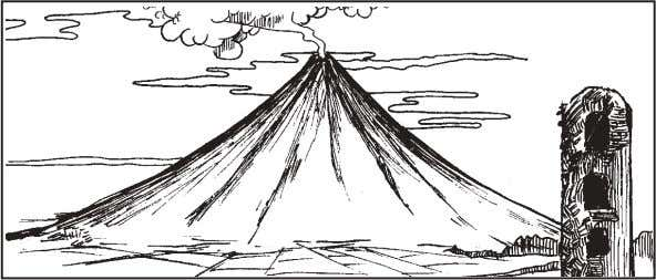 d. mineral 5. What type of volcano is illustrated below? a. shield volcano b. cinder cone