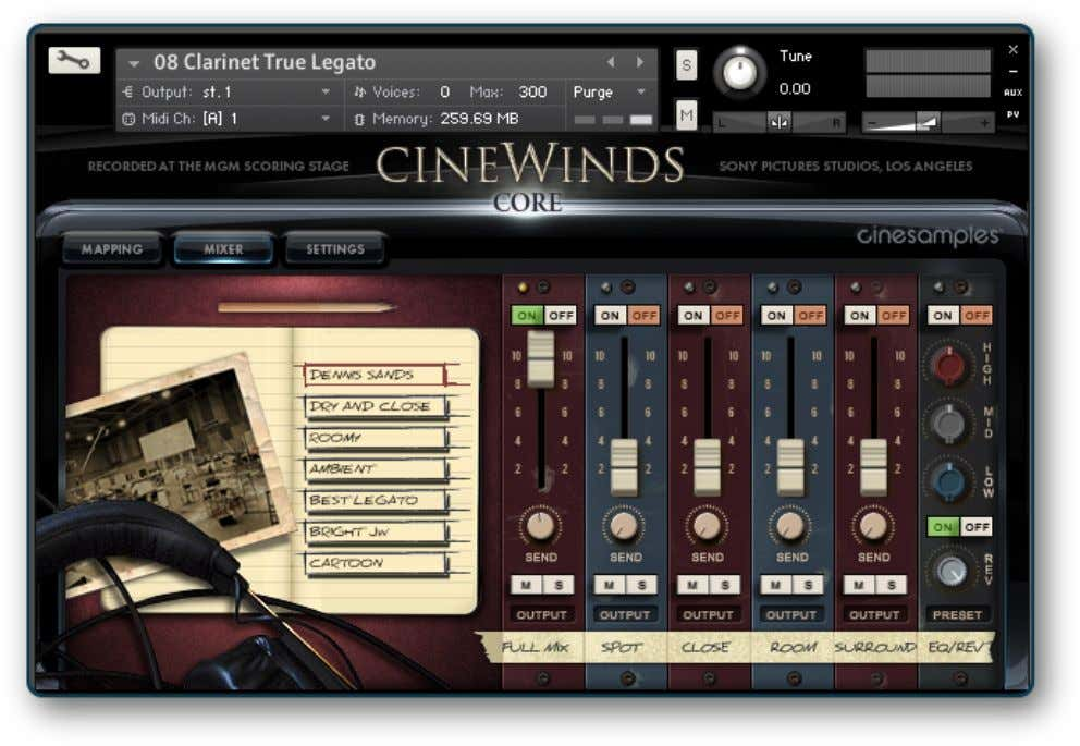 focus in order to make these instruments easy to use. CineWinds CORE will earn a permanent