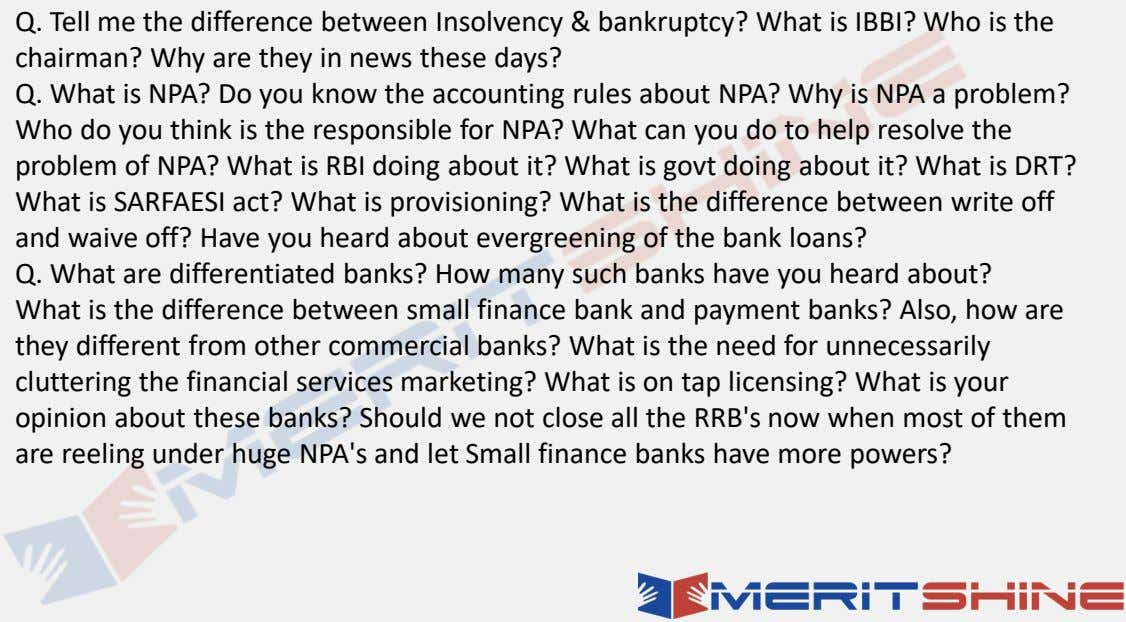 Q. Tell me the difference between Insolvency & bankruptcy? What is IBBI? Who is the