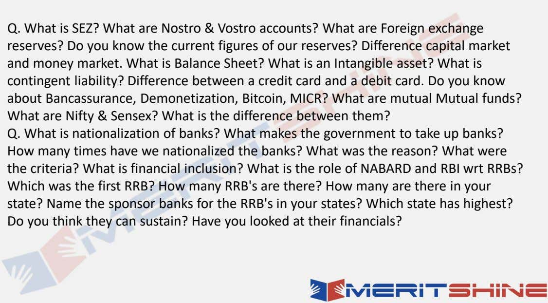 Q. What is SEZ? What are Nostro & Vostro accounts? What are Foreign exchange reserves?