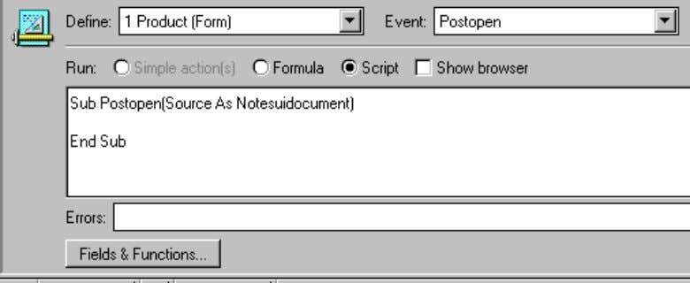object and event, as the following picture illustrates: Error Box This box (see figure above) is