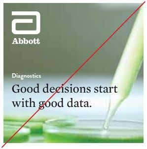 Diagnostics Good decisions start with good data.