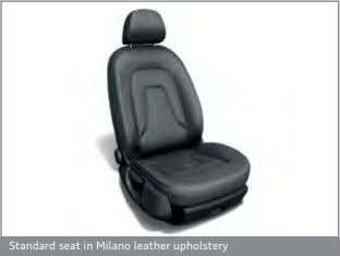 Standard seat in Milano leather upholstery