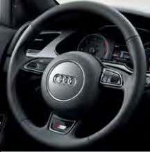 see option 9ZW, featured in the options section of the guide 3-spoke multi-function steering wheel MMI