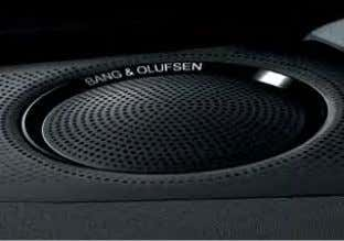 with MMI screen display; measurement is by ultrasonic sensors concealed in the bumpers Bang & Olufsen