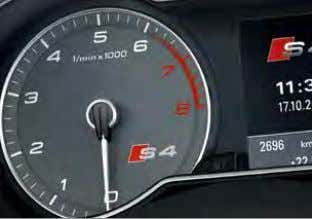 to scroll along the selected Optional S4 Super Sports seats 'S' instrument dial route and manoeuvre
