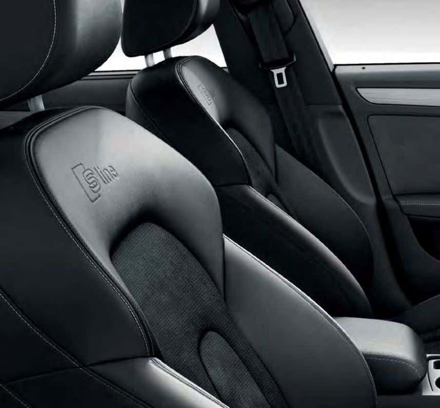 materials and textures, including additional support and colour options, for complete relaxation while you drive. 46