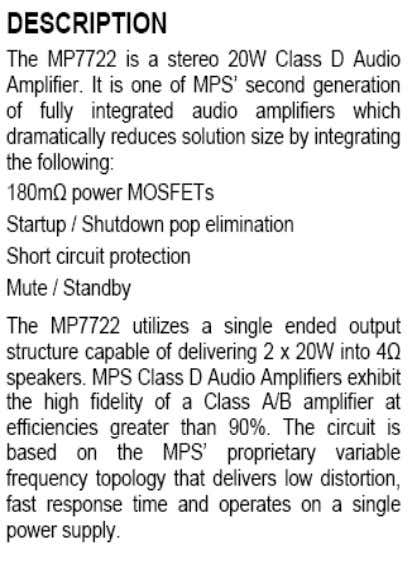 AUDIO (MP7722) T o p V ı e w ON MB36 CHASSIS