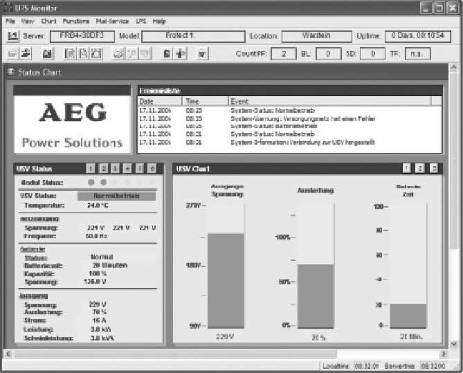 "Netware, IBM AIX, HP-UX, SUN Solaris, Mac OS X, and others. Example of a ""CompuWatch"" screen"