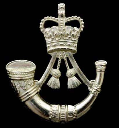 with tassels above surmounted by the Sovereign's Crown. Side Hat, Collar Badge & Button version For