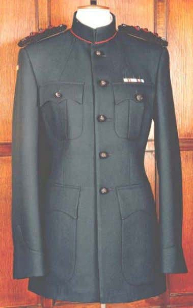 Embellishments: Avn /Para Wings etc. as per Army Dress Regs. No shoulder titles; No coll ar