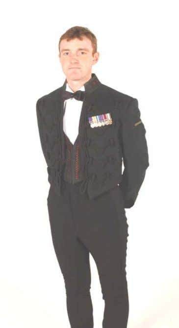 Officers' Mess Dress (No 10) Headdress: No1 Dress Hat /Side Hat Jacket: Scarlet high open collar