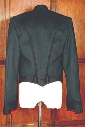 Officers' Mess Dress (No 10) Pattern Views Front view Mess Jacket & Vest There may be
