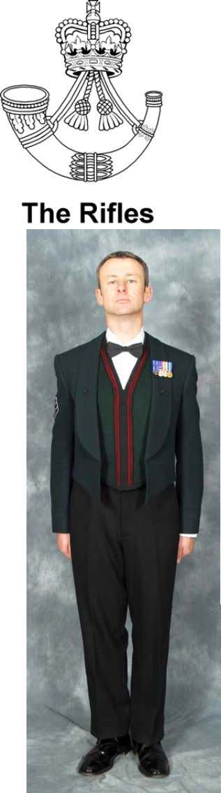 WOs' & S NCOs' Mess Dress (No 10) Headdress: No1 Dress Forage Cap. Jacket: Rifle
