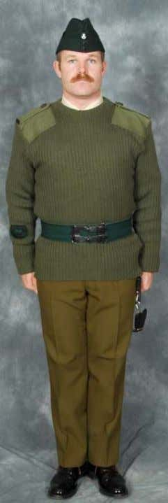 WOs Winter Barrack Dress (No 13) ( Pullover Order ) Headdress: Rifle Green Side Hat
