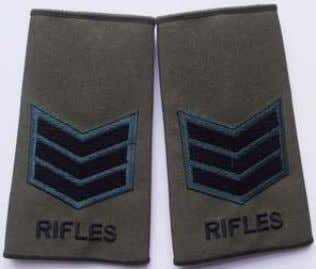 Rank Slide Lance Corporal Rifles Rank Slide Corporal Rifles Rank Slide Serjeant Rifles Rank Slide Rifleman