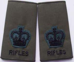 Rank Slide Rifleman Rifles Rank Slide Colour Serjeant Rifles Rank Slide WO2 Rifles Rank Slide RQMS/TQMS