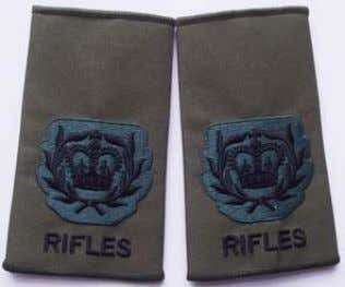 Rifles Rank Slide Colour Serjeant Rifles Rank Slide WO2 Rifles Rank Slide RQMS/TQMS Rifles Rank Slide