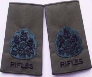 Serjeant Rifles Rank Slide WO2 Rifles Rank Slide RQMS/TQMS Rifles Rank Slide RQMS/TQMS Available through: