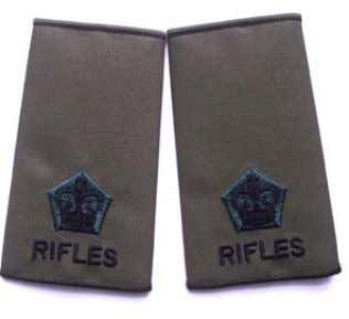 officer pattern shirts. Rifles Rank Slide 2nd Lieutenant Rifles Rank Slide Major Rifles Rank Slide Lieutenant